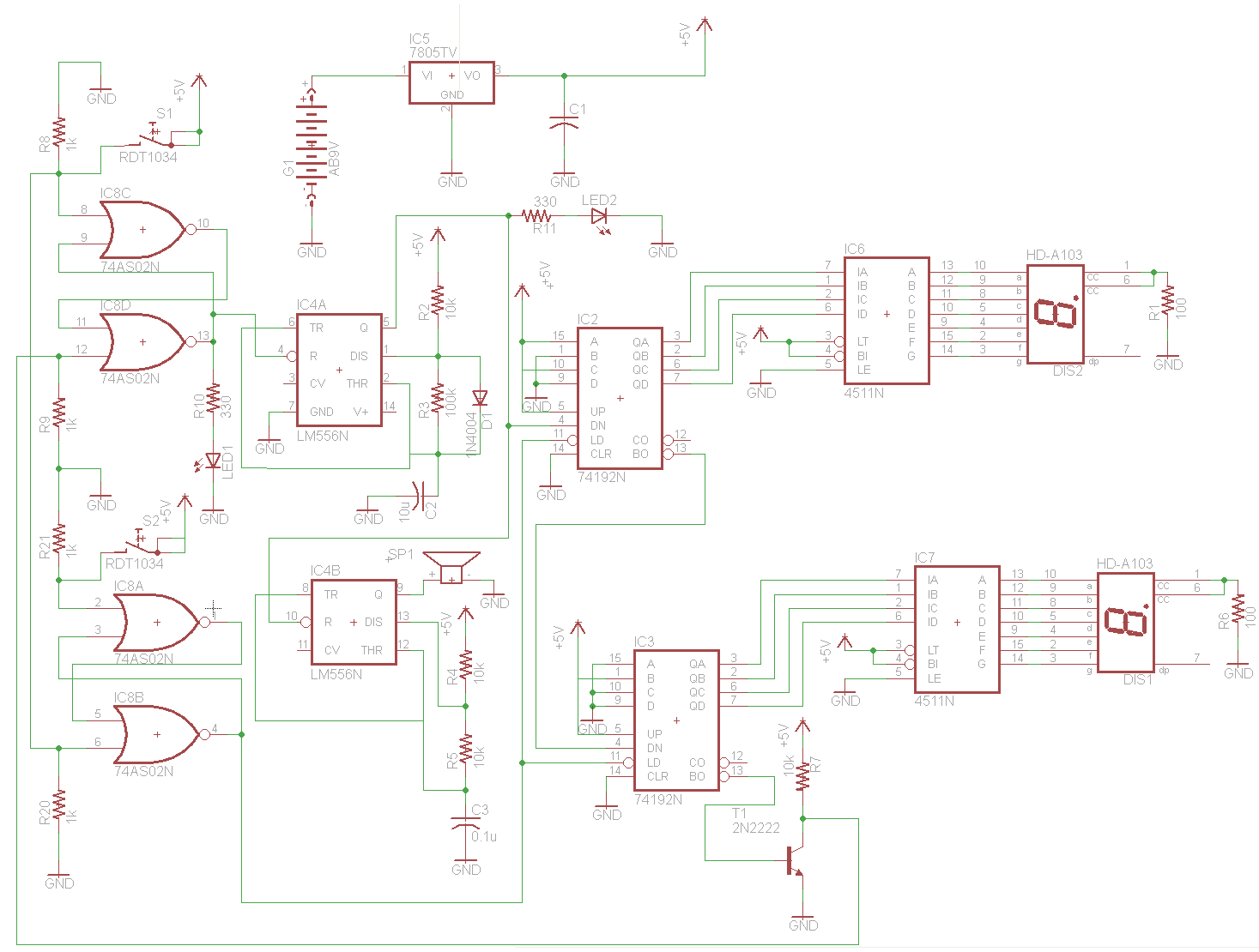 beeping down counter schematic pyroelectro news projects rh pyroelectro com