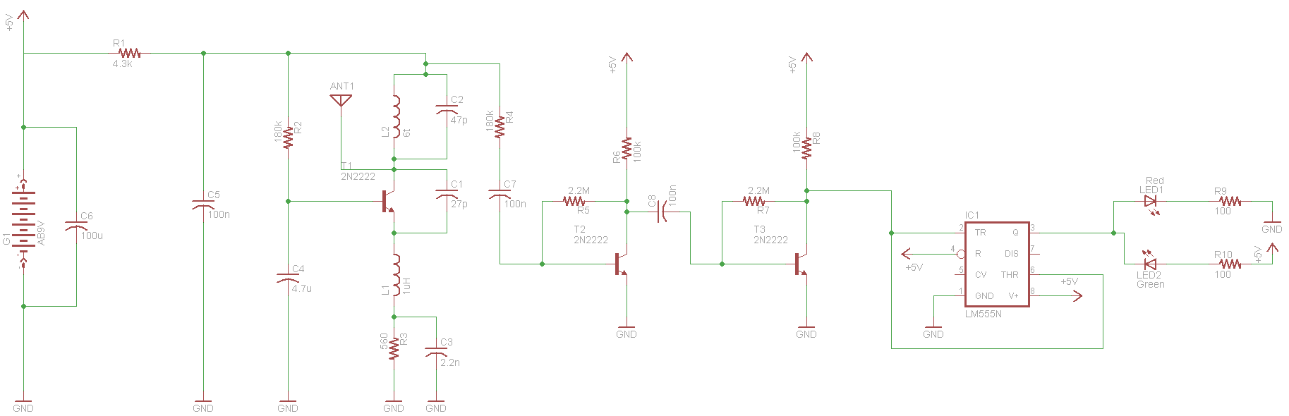 Simple Pyro Rf Receiver 27 Mhz Schematic Pyroelectro News 555 Logic Diagram View Full