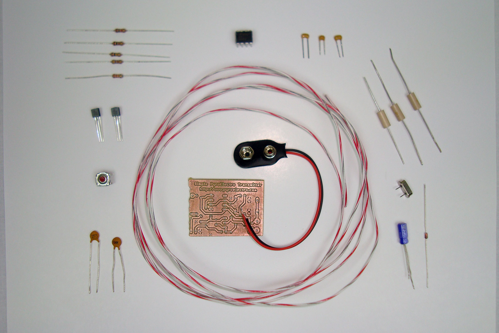Simple Pyro RF Transmitter (27 MHz) - Hardware Assembly