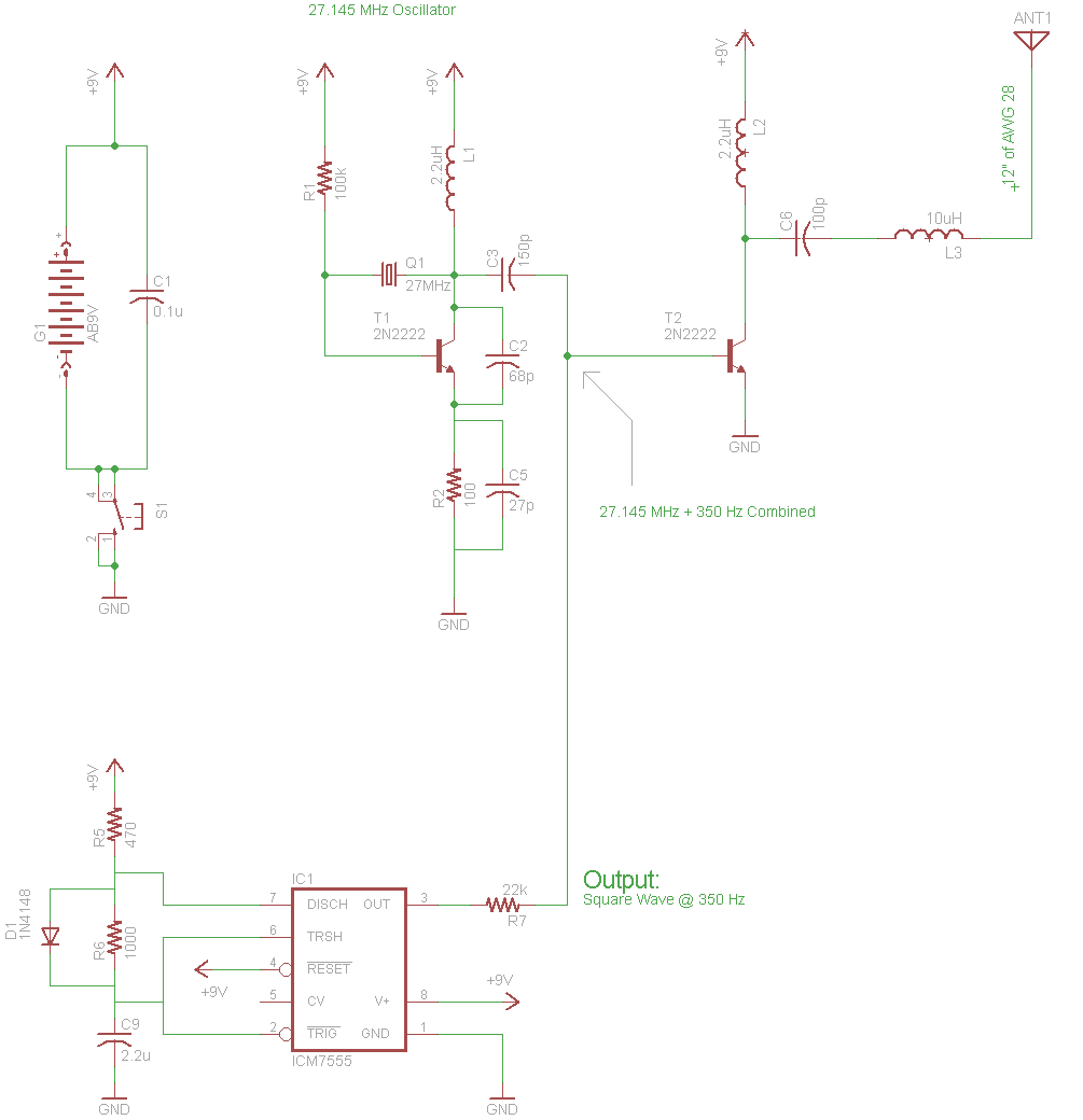 Rf Tx And Rx Using Crystal Oscillator 8051 Microcontroller Circuit