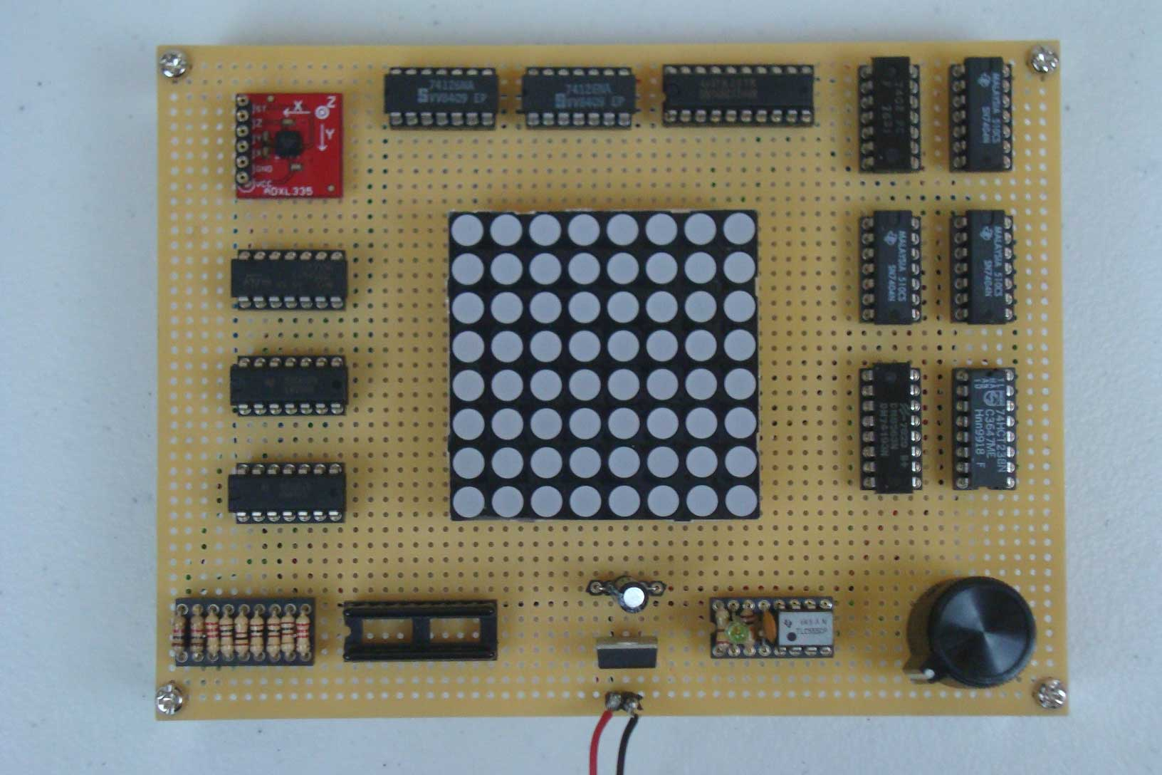 Tilt Sensor Via Accelerometer Introduction Pyroelectro News Simple Touch Screen Interface Schematic Board
