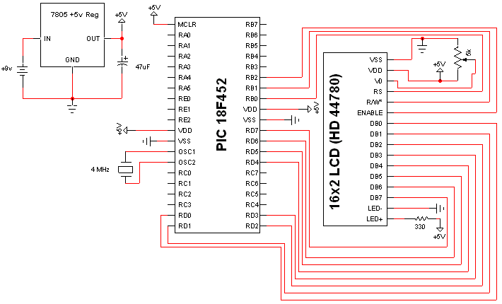 16x2 Lcd Display Custom Characters Schematic Pyroelectro News