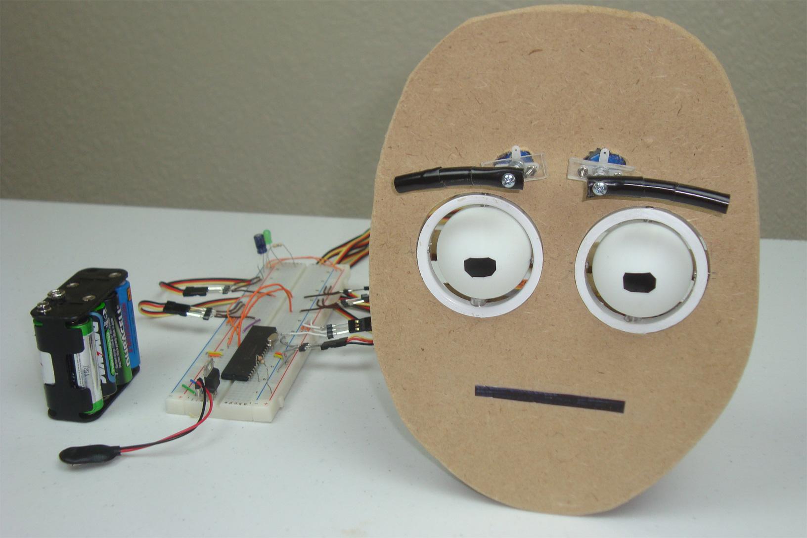 Animatronic eyes introduction pyroelectro news