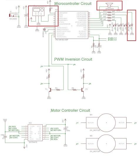 building a robot  proximity sensor schematic