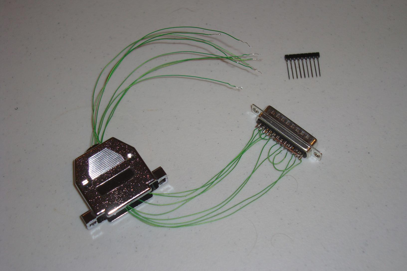 Byteblastermv Diy Programmer Hardware Connectors Pyroelectro Simple Touch Screen Interface Schematic News Below You Can See The Soldered Connections From Parallel Port Connector Ready To Be Wire Wrapped Some Sips