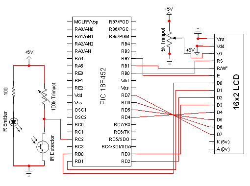 Build A Digital TachometerRPM Counter Schematic – Rpm Meter Wiring Diagram A