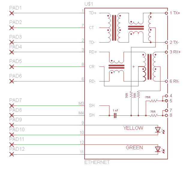 Diy breakout board pcb schematic pyroelectro news projects view full schematic schematic specifics ethernet port cheapraybanclubmaster Images
