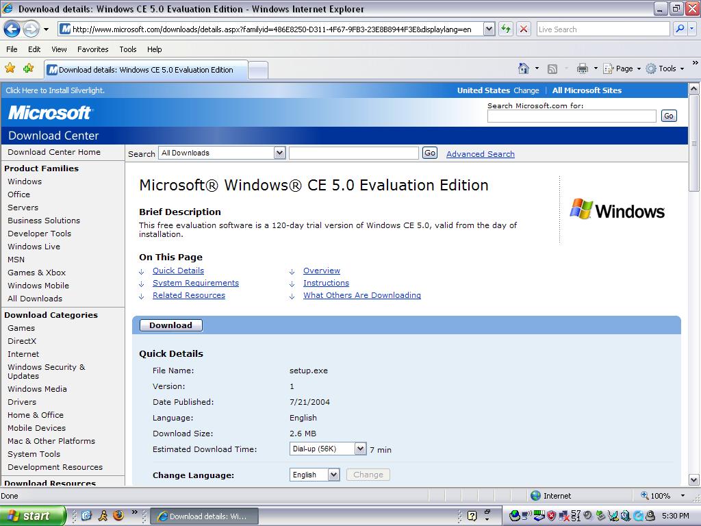 Windows ce. Net emulator download.