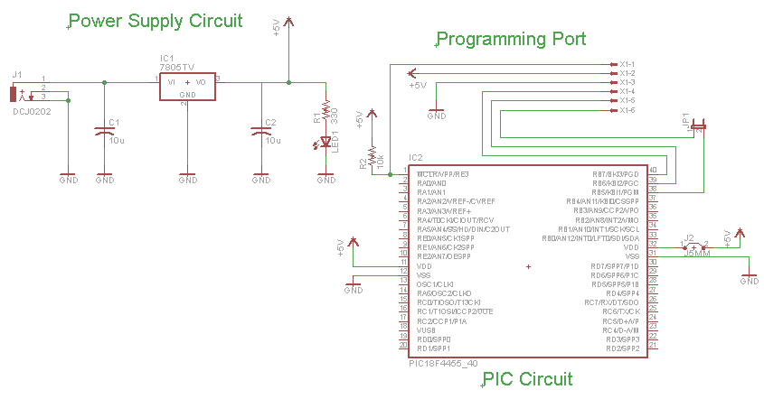 Mini PIC Dev Board - Schematic | PyroElectro - News, Projects ...