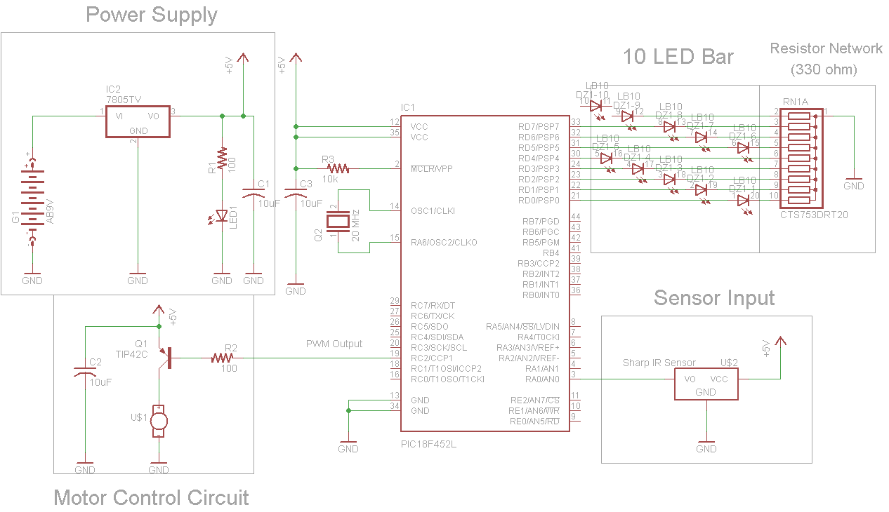 ir proximity motor control schematic pcb layout pyroelectro rh pyroelectro com