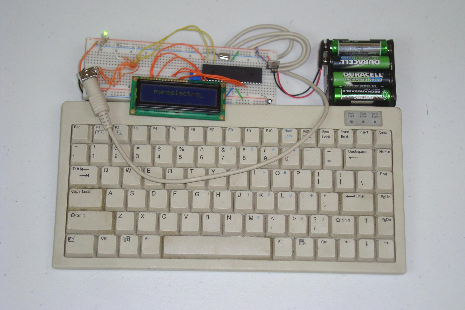 Ps 2 Keyboard To 16x2 Lcd Conclusion Pyroelectro News Simple Pic Usb Interface Schematic Projects Tutorials