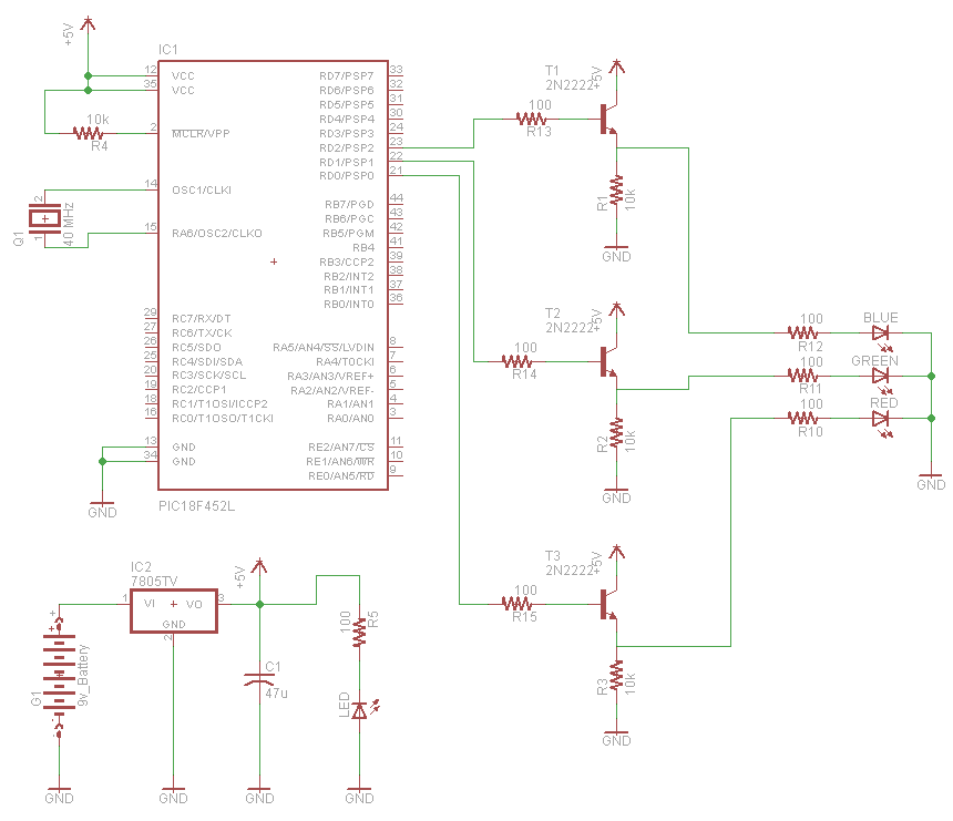 RGB LED Controller - Schematic | PyroElectro - News, Projects ...