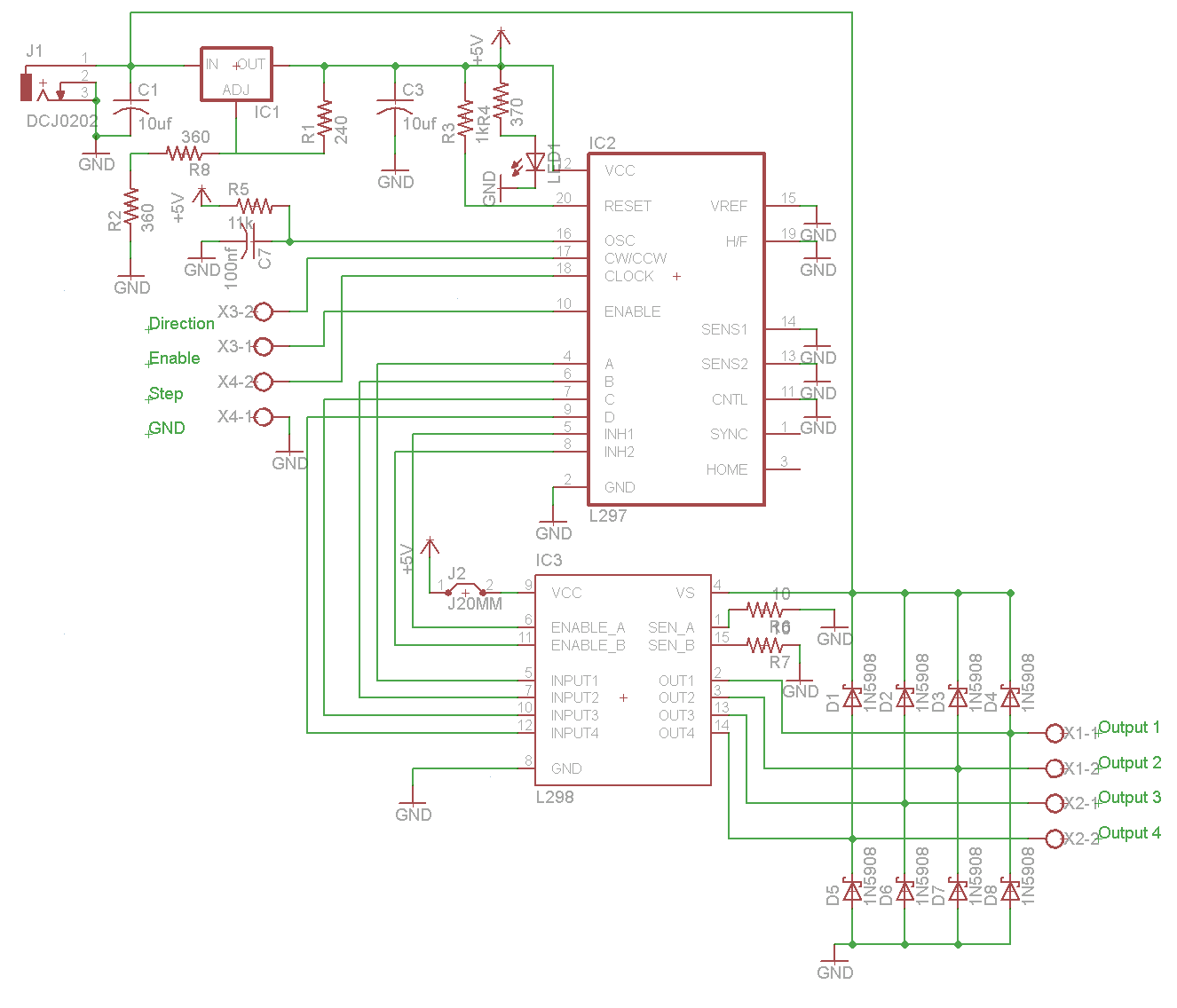 Diy stepper controller schematic pyroelectro news Step motor driver circuit