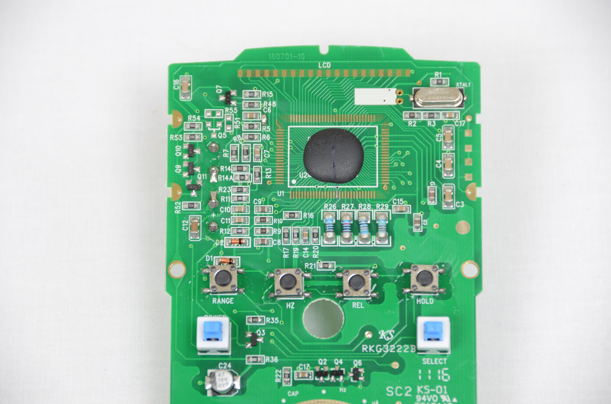Tenma 72 7735 Inside The Dmm Pyroelectro News Projects Tutorials Simple Pic Usb Interface Schematic After I Removed Lcd From Pcb It Was Obvious Where All Brains Of This Circuit Were Hidden Under A Blob Black Epoxy