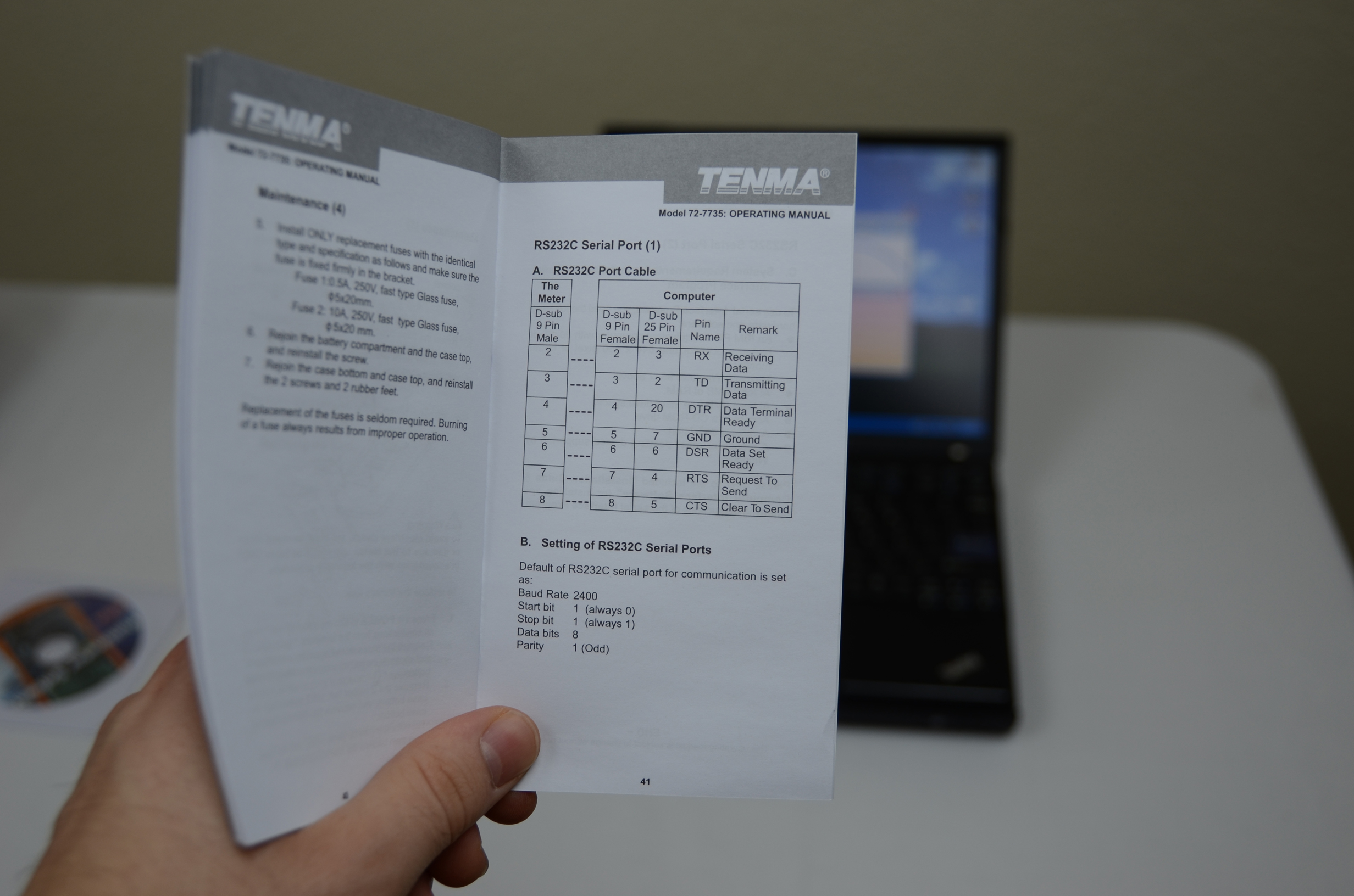 Tenma 72 7735 Pc Interface Pyroelectro News Projects Tutorials Simple Pic Usb Schematic You Can Follow The Pdf File On Cd Rom To Try And Get Things Connected Or Just Do What I Did Users Manual Lists Communication Type