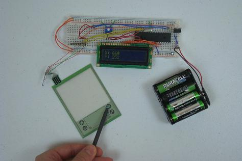 simple touch screen interface parts list pyroelectro 4 wire trailer schematic 4 wire regulator schematic