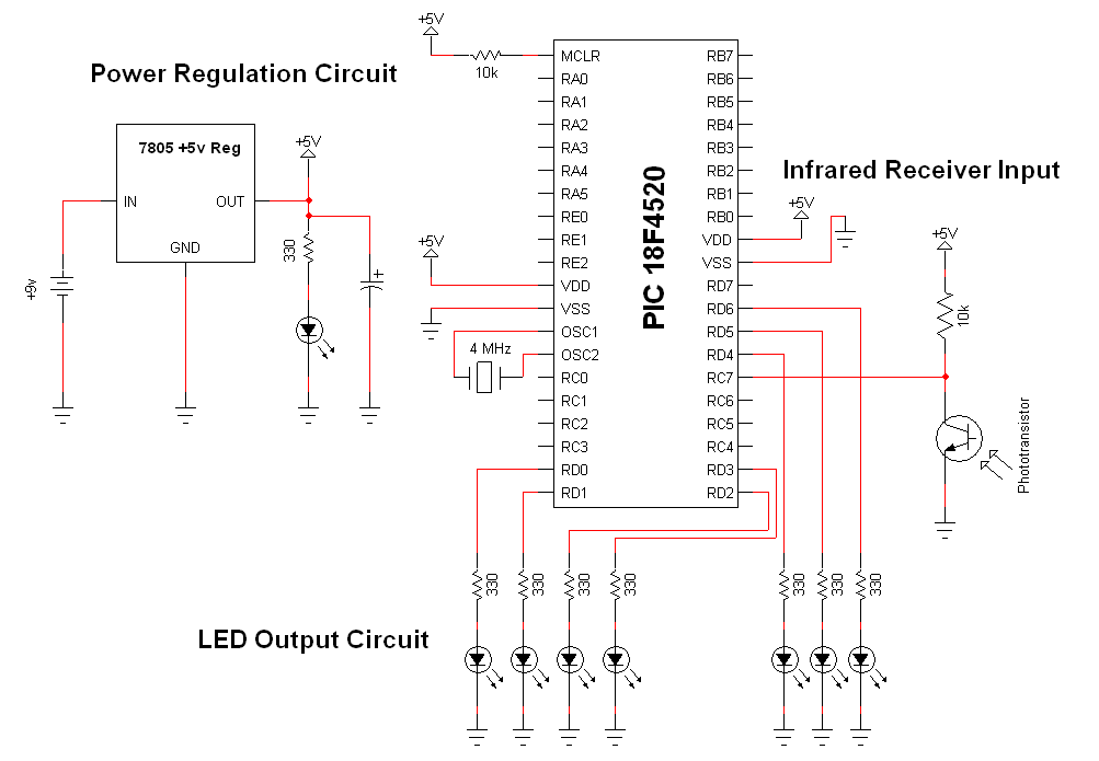 Wireless Infrared Link - Schematic