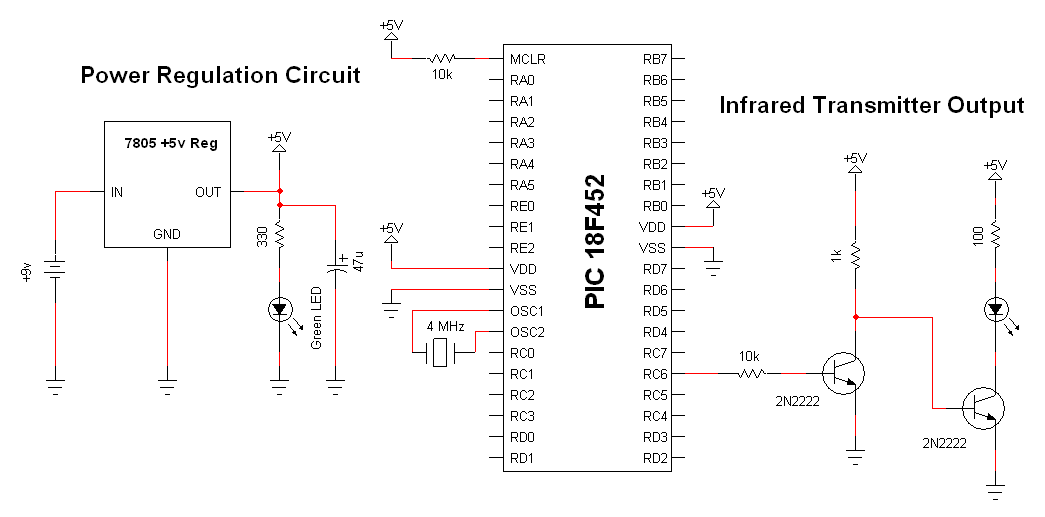 [SCHEMATICS_4ER]  Wireless Infrared Link - Schematic | PyroElectro - News, Projects &  Tutorials | Wireless Schematic |  | PyroElectro