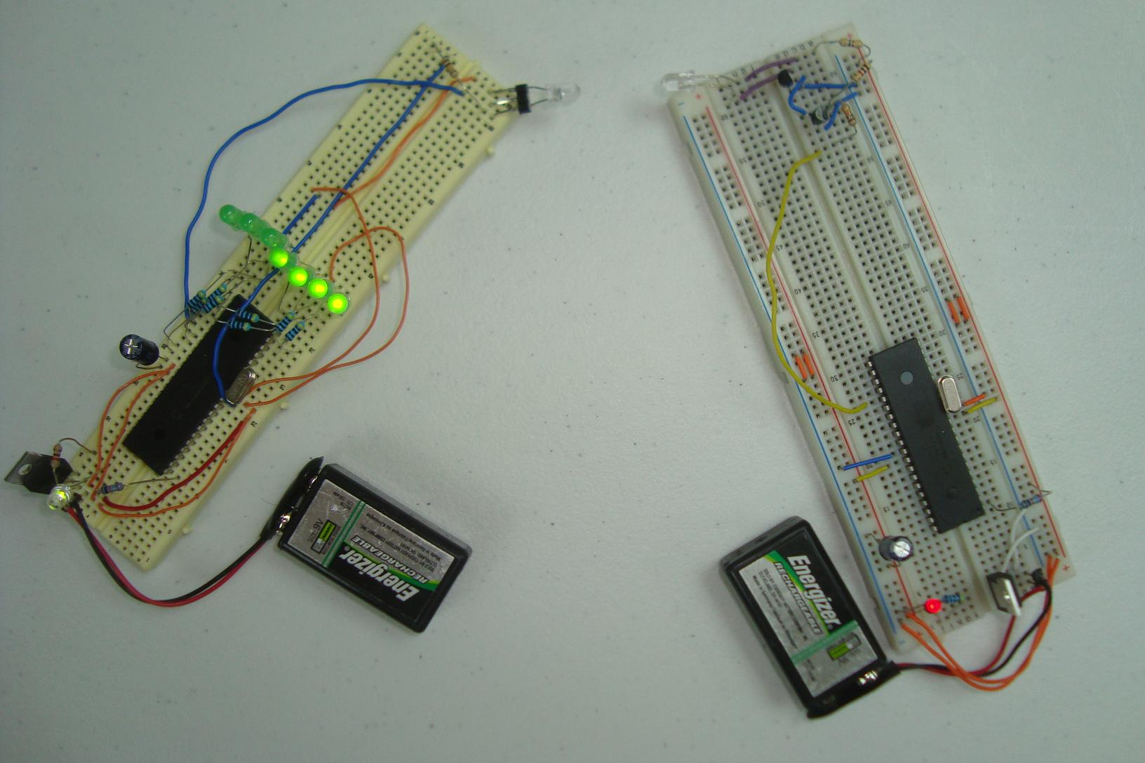 Wireless Infrared Link Introduction Pyroelectro News Projects This Is A Simple Ir Receiver Circuit Which Plugs Into Serial Port Of Jump To