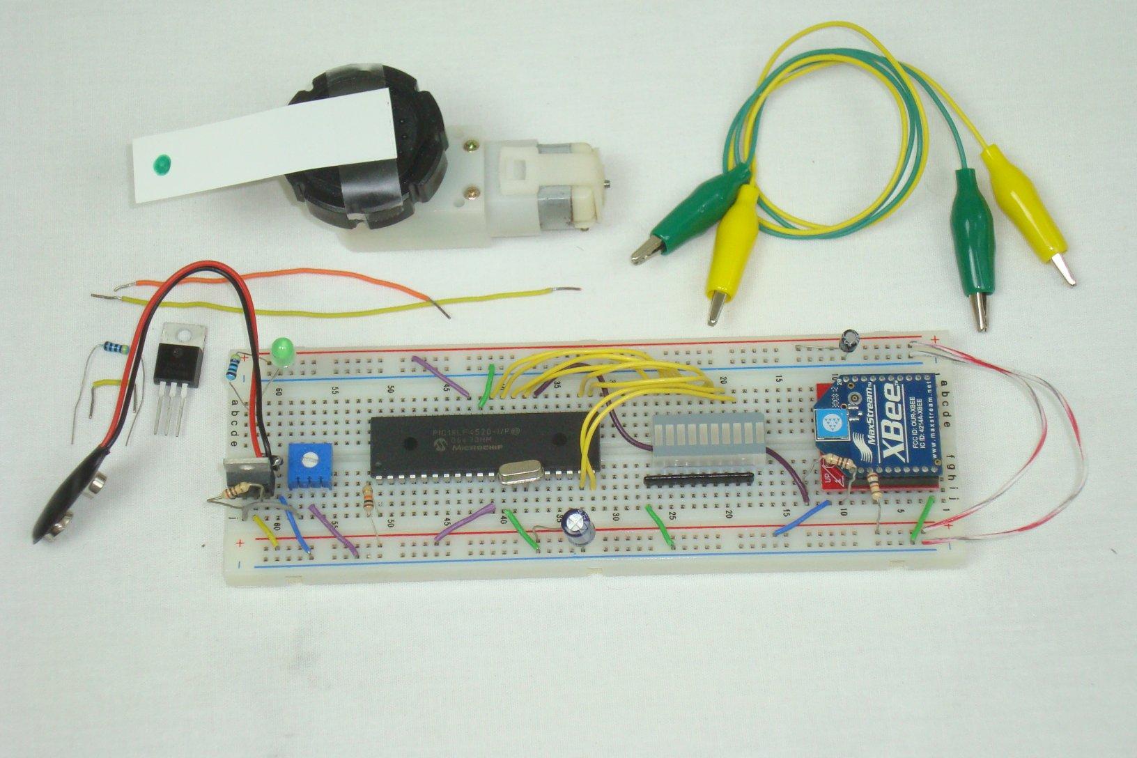 Wireless sensor motor control receiver pyroelectro for Motor control circuit tutorial