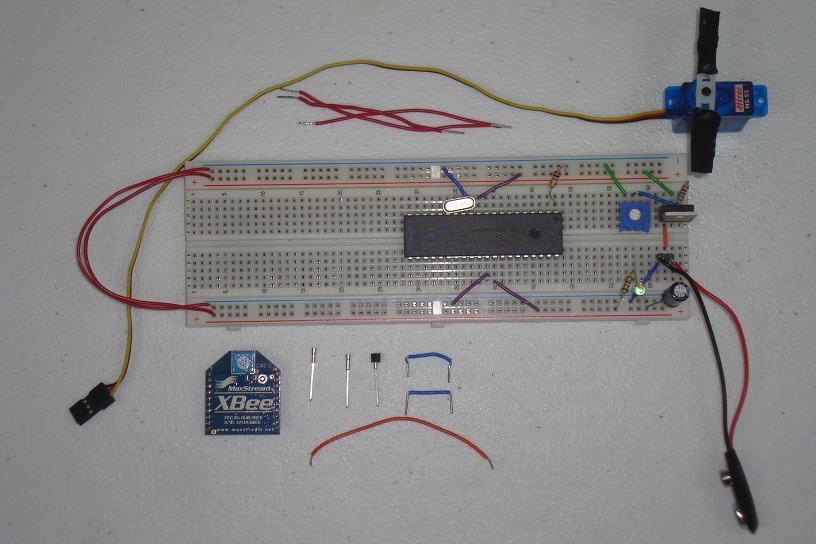 Xbee Wireless Servo Motor Control Hardware Pyroelectro